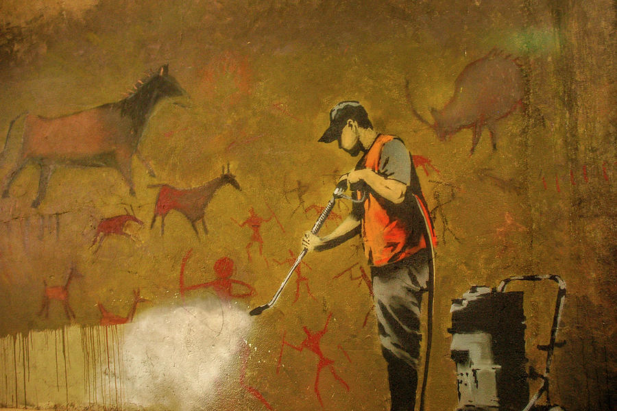 Banksy's Cave Painting Cleaner by Gigi Ebert