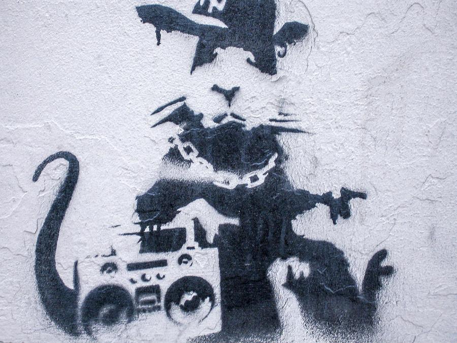 Banksy's Gansta Rat by Gigi Ebert