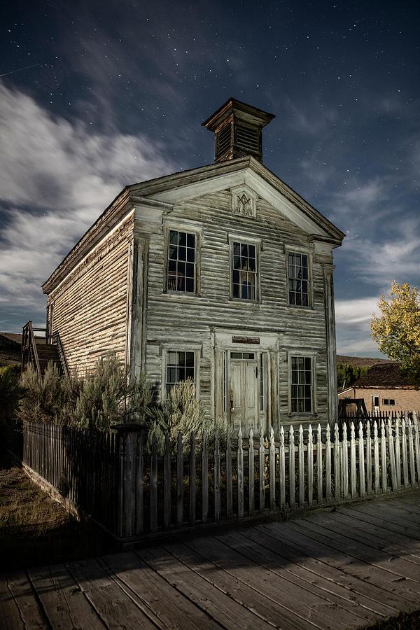 Bannack Photograph - Bannack Lodge Under A Big Sky Night by Stephen Stookey