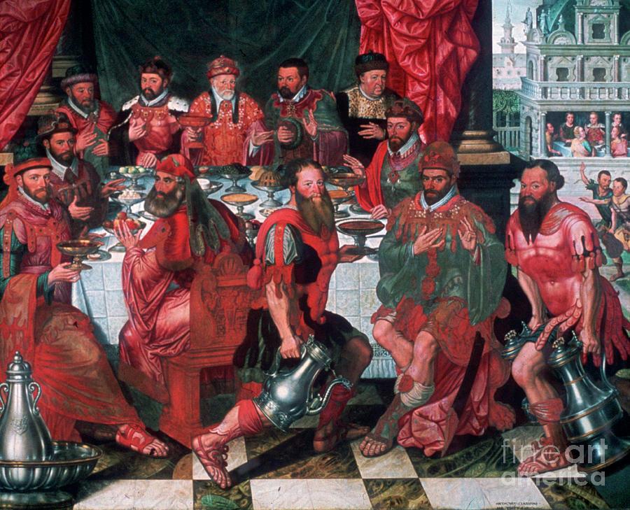 Banquet, 1574. Artist Antoon Claeissens Drawing by Print Collector