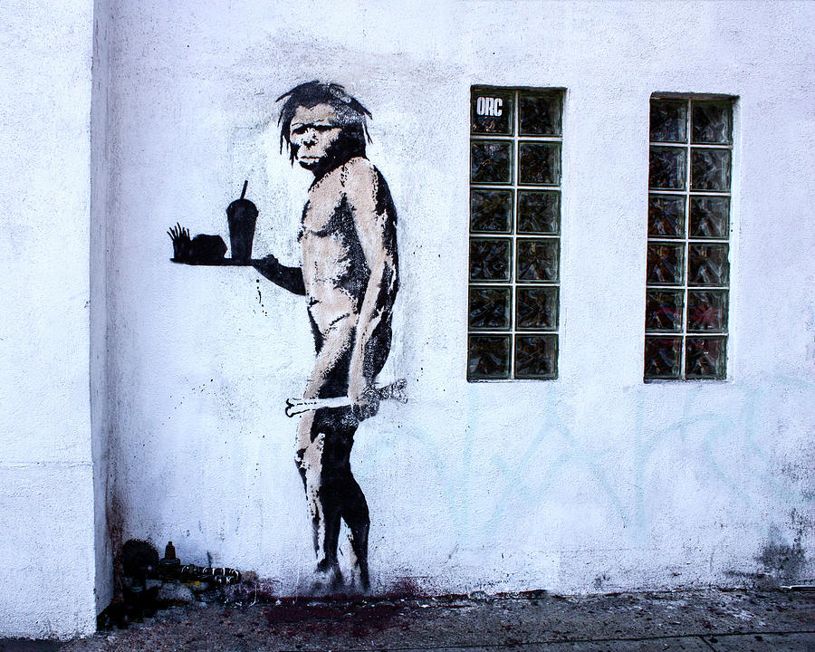 Bansky Fast Food Caveman Los Angeles by Gigi Ebert