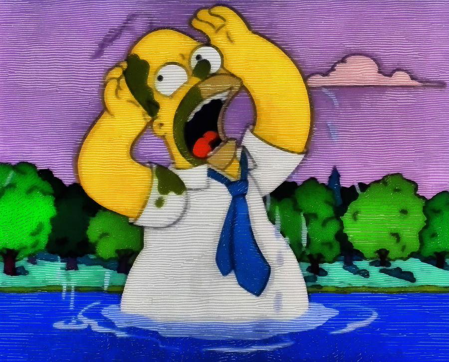 Baptism of Homer Simpson by Mario Carini