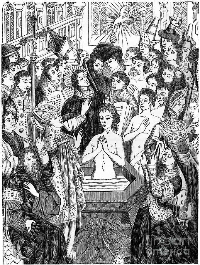 Baptism Of King Clovis, Rheims, 1870 Drawing by Print Collector