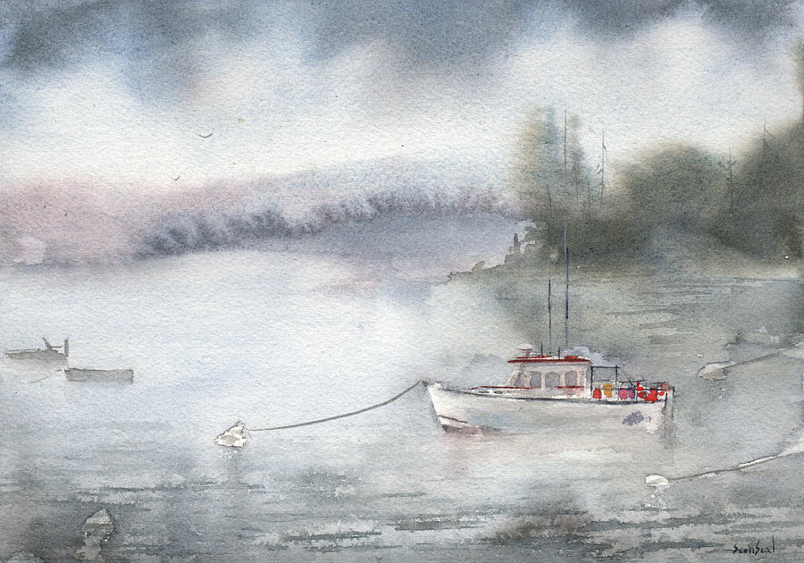 Bar Harbor Lobster Boat by Sean Seal