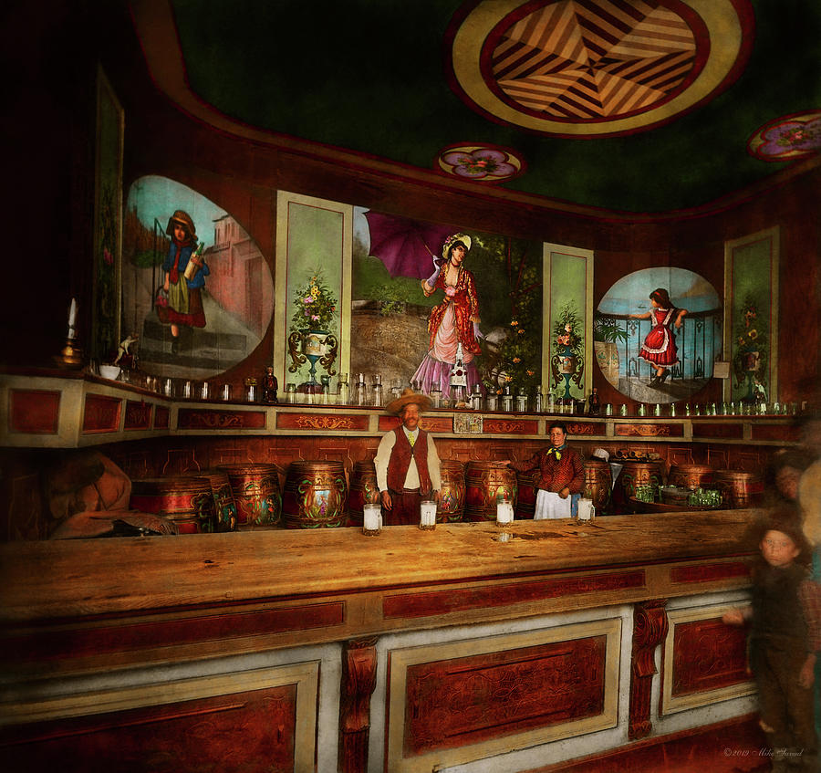Bar - The drink of the gods 1898 by Mike Savad
