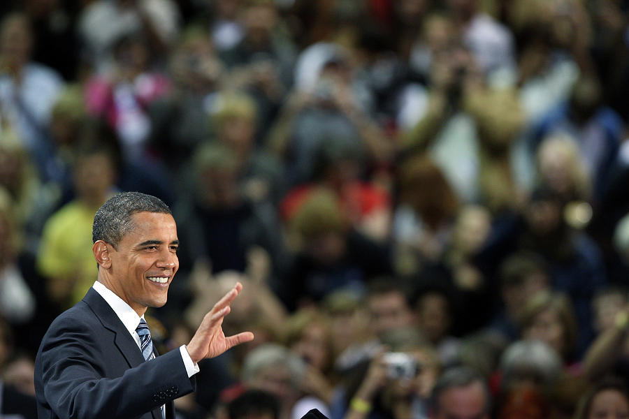 Barack Obama Campaigns In Golden Photograph by John Moore