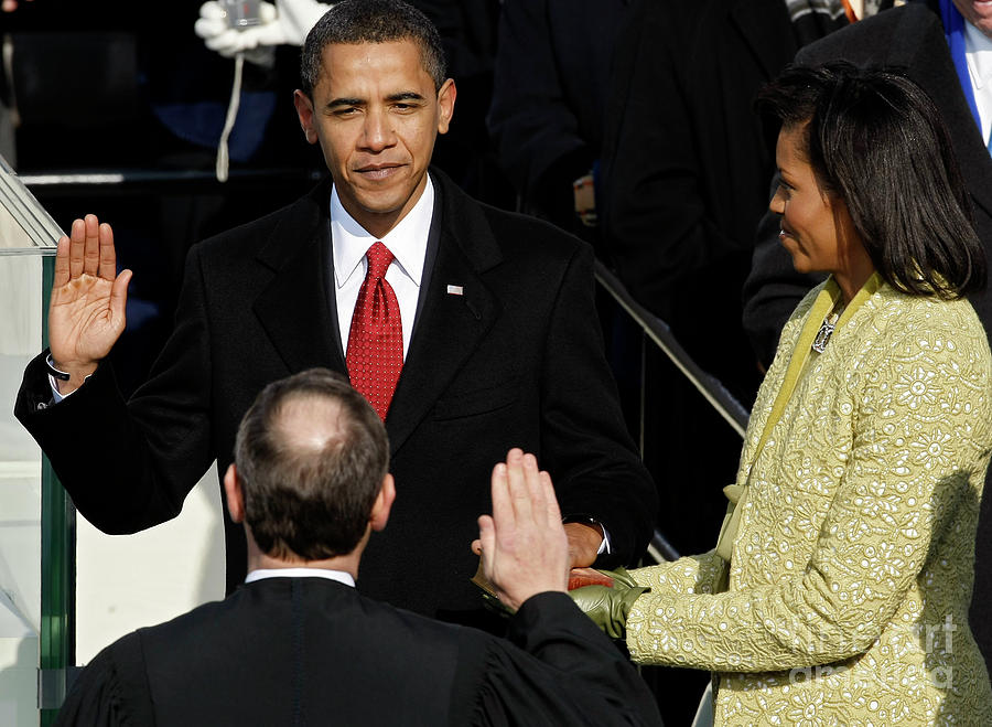 Barack Obama Is Sworn In As 44th Photograph by Chip Somodevilla