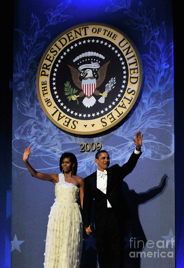 Barack Obama Is Sworn In As 44th Photograph by Handout