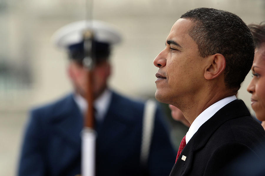 Barack Obama Is Sworn In As 44th Photograph by John Moore