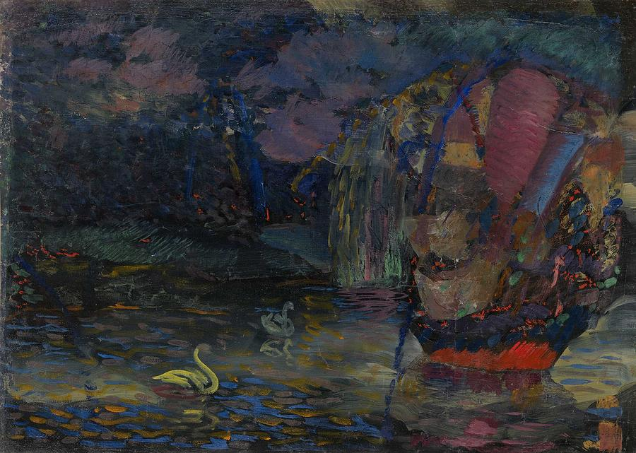 Lake Painting - Baranoff-rossine Vladimir  1888-1944  Fairy Lake by Celestial Images