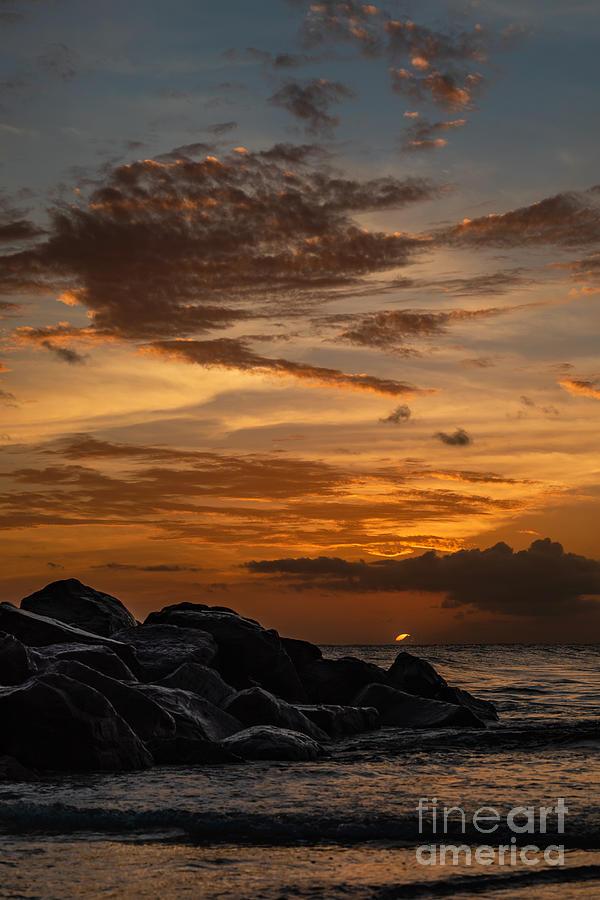 Landscape Photograph - Barbados Sunset Clouds by Alma Danison