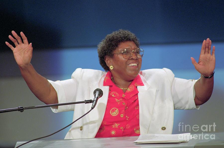 Barbara Jordan Addressing Convention Photograph by Bettmann