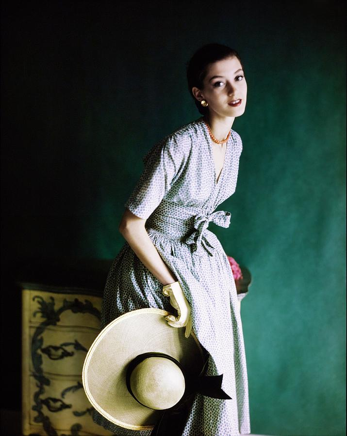 Barbara Mullen In A Townley Dress Photograph by Horst P. Horst