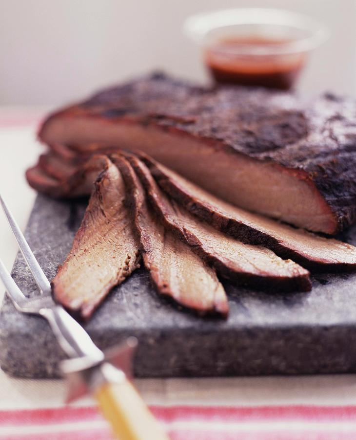 Barbecued Brisket Photograph by Alexandra Grablewski