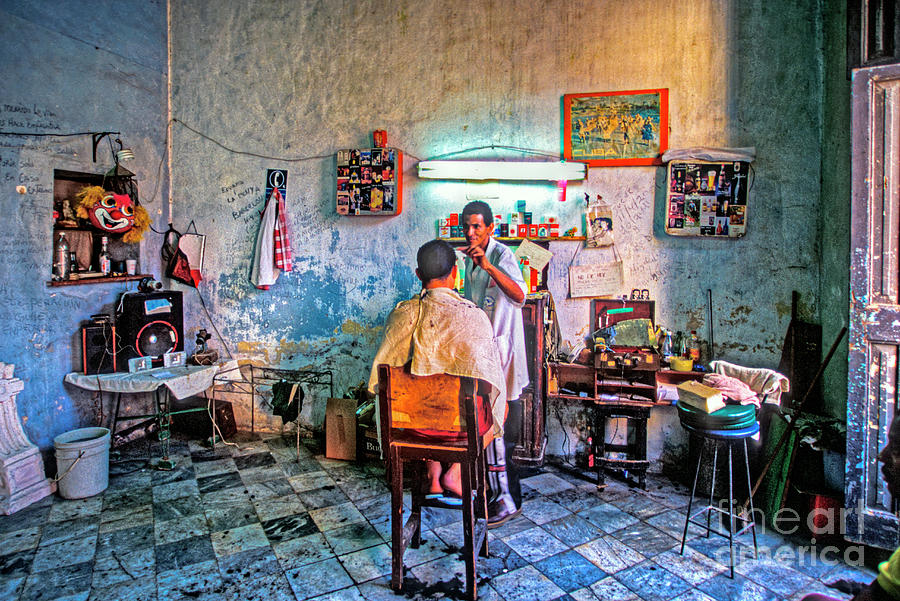 Barber Shop Havana Cuba Photograph