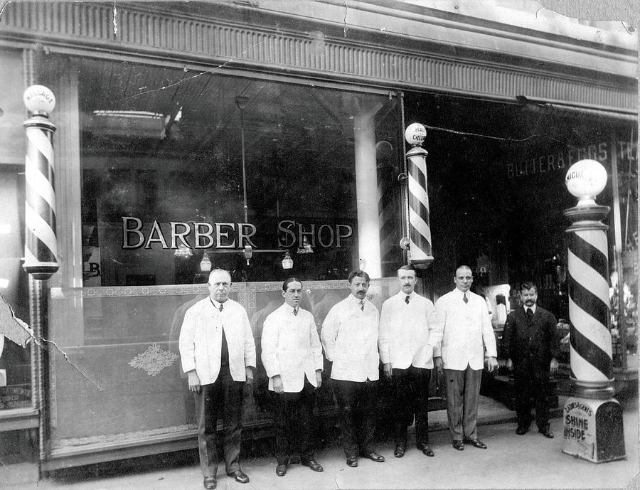 Barber Shop Photograph by Vintage Images