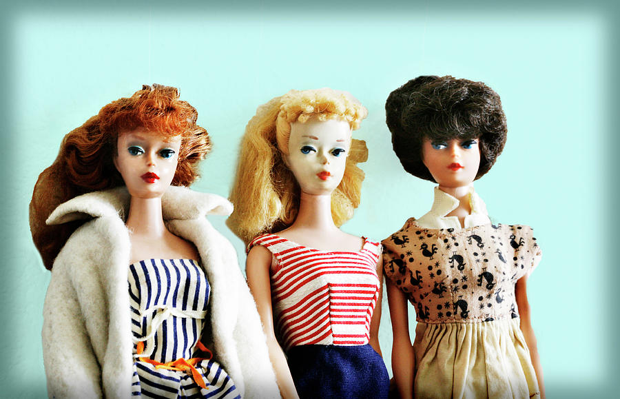 Barbies on Blue by Marilyn Hunt