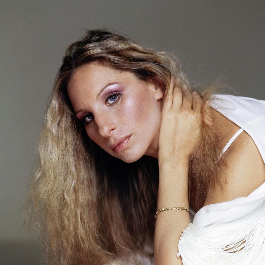 Barbra Streisand in Purple Eyeshadow Photograph by Francesco Scavullo