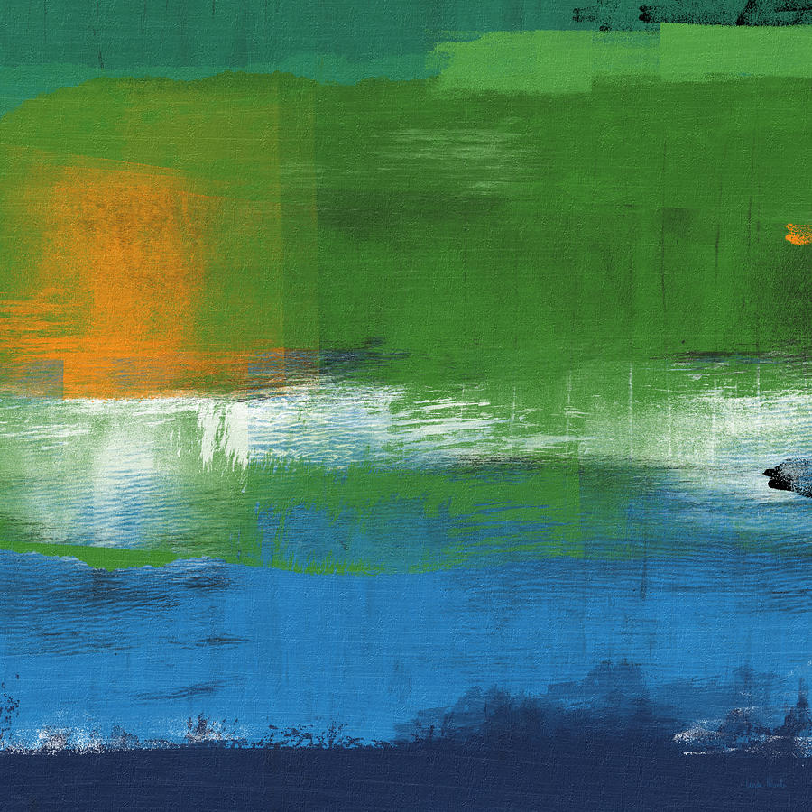 Abstract Painting - Barcelona- Abstract Art By Linda Woods by Linda Woods