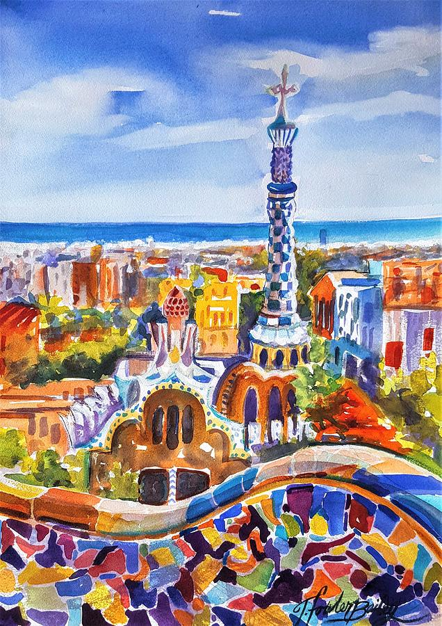 Barcelona Painting - Barcelona Bammm Sold by Therese Fowler-Bailey
