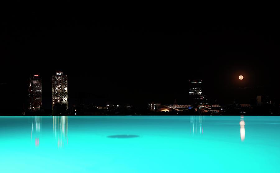 Barcelona Photograph - Barcelona by night by Andrea Gabrieli