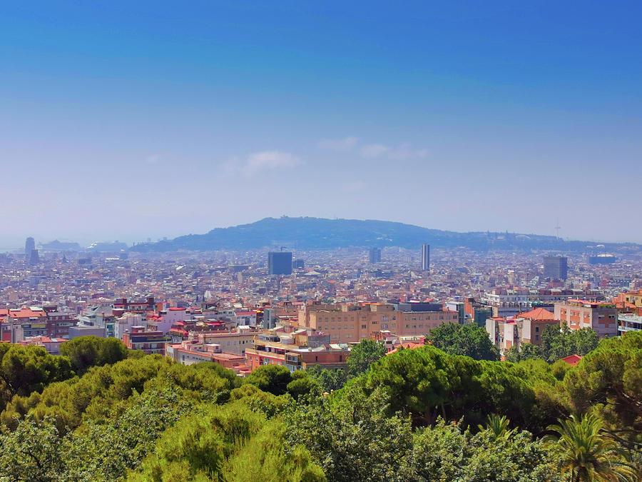 Barcelona City View by Art Spectrum