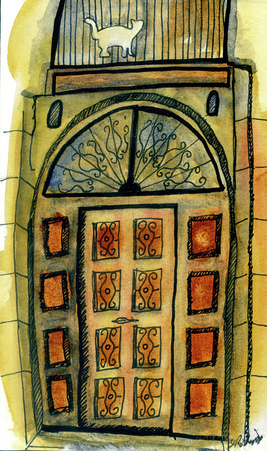 Barcelona Door by Judy Robinson