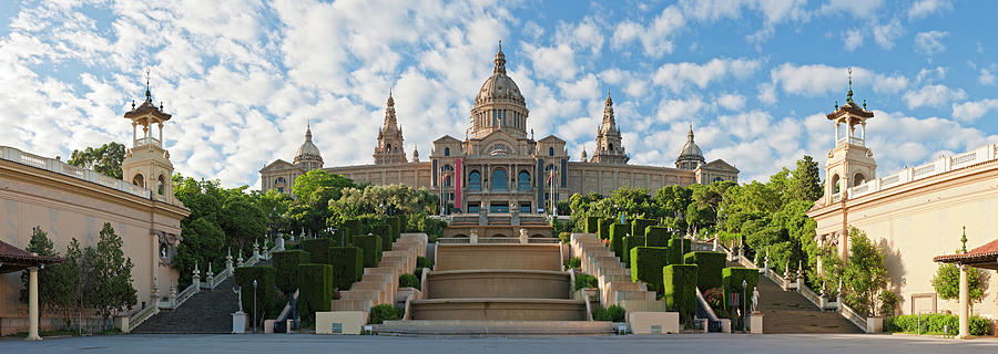 Barcelona Museu Nacional Dart De Photograph by Fotovoyager