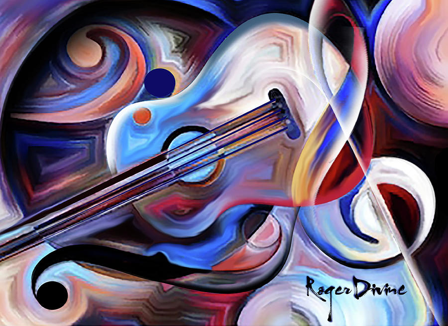 Music Painting - Barcelona Nights by Roger Divine