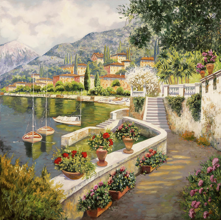 barche a Bellagio Painting