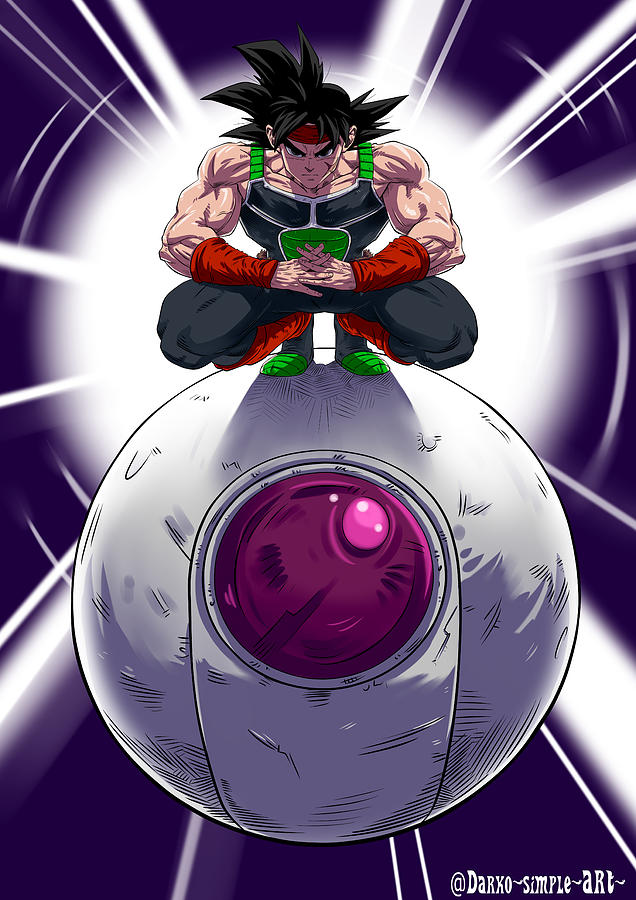Print Digital Art - Bardock The Father Of Goku by Darko Babovic