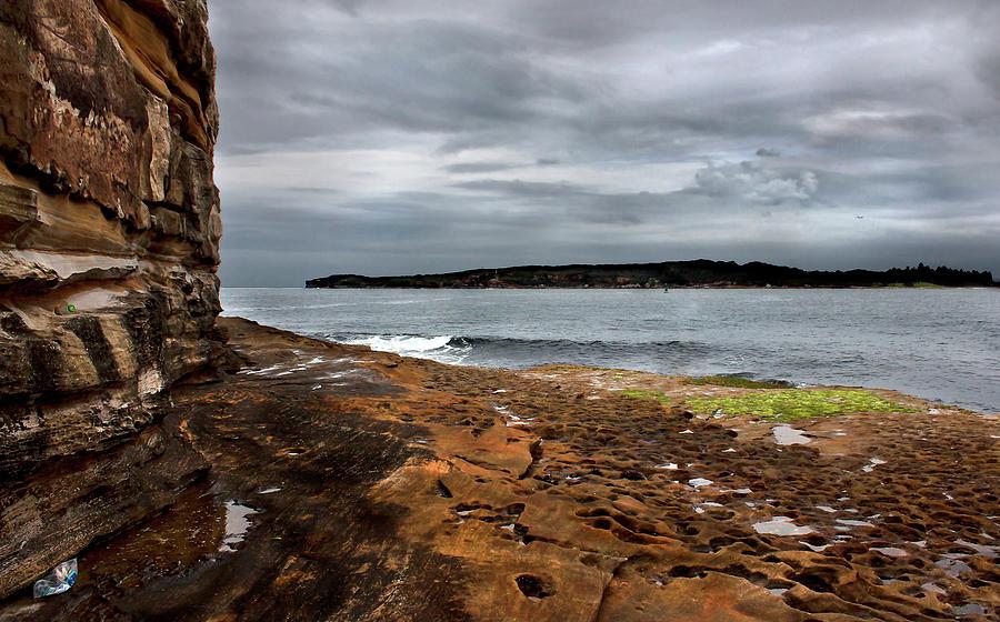 Bare Island Sandstone Wall by Miroslava Jurcik