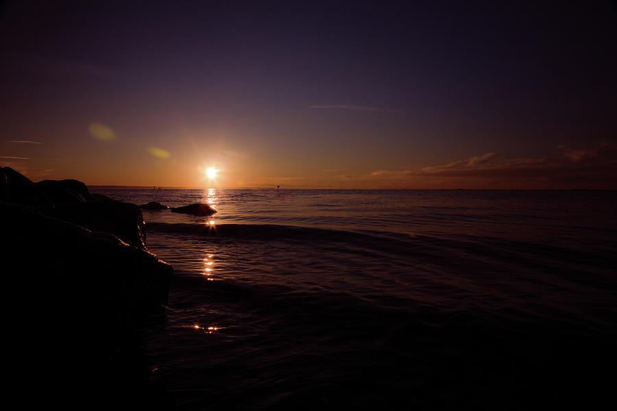 Barely Lit Coastline Photograph