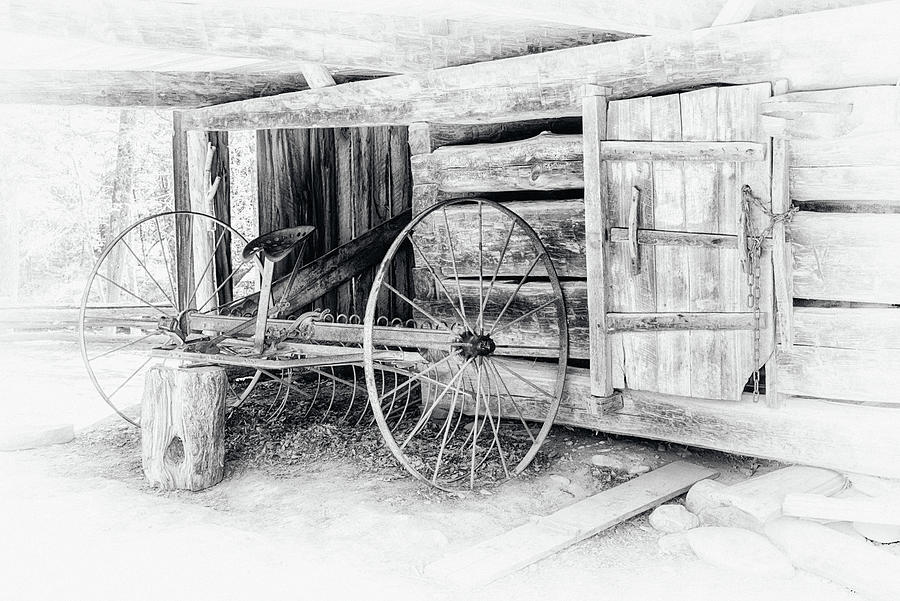Barn and Hay Rake #0414 by Susan Yerry