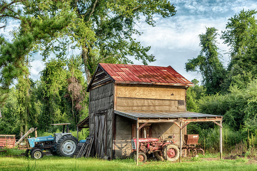 Barn and Tractors #2006 by Susan Yerry