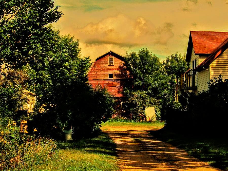 Barn At The End Of The Driveway Photograph