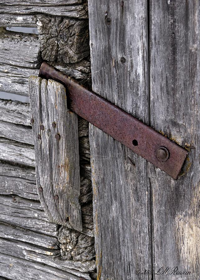 Weathered Photograph - Barn Door Latch Detail by Images Undefined