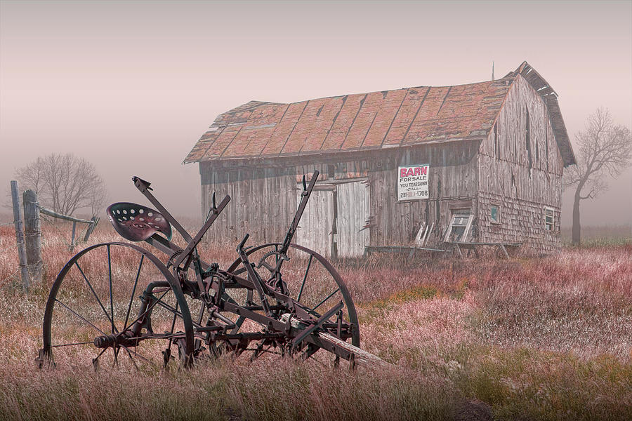 Barn for Sale in the Fog by Randall Nyhof