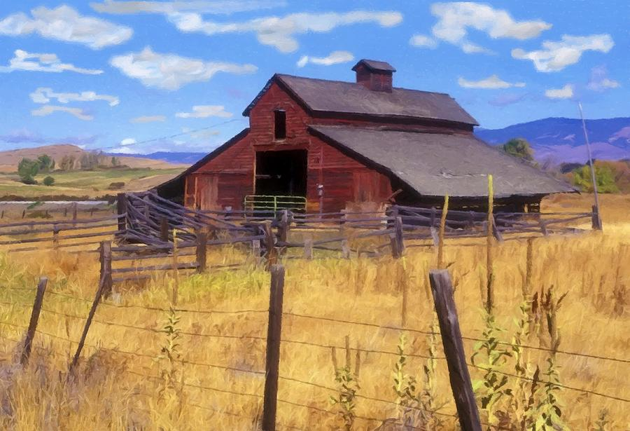 Barn In the Mountains by Sandi OReilly