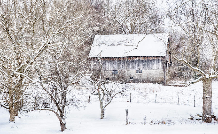 Barn in the Snow #2608 by Susan Yerry