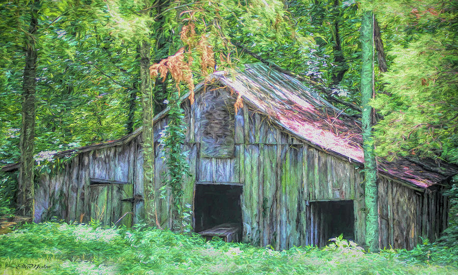 Barn in the Woods 1393 - Painted by Ericamaxine Price