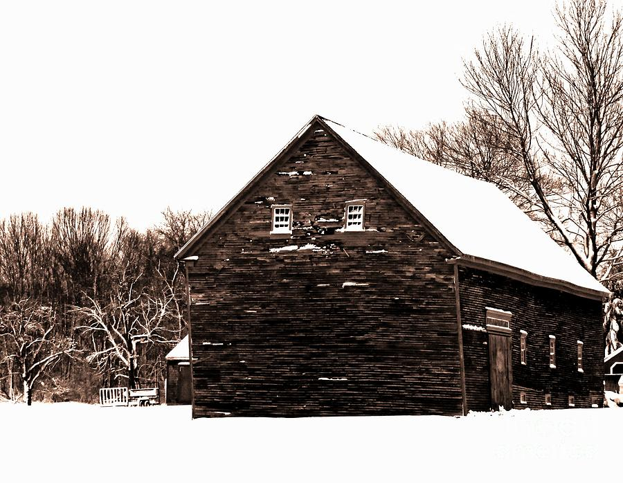 Barn In Winter by Marcia Lee Jones