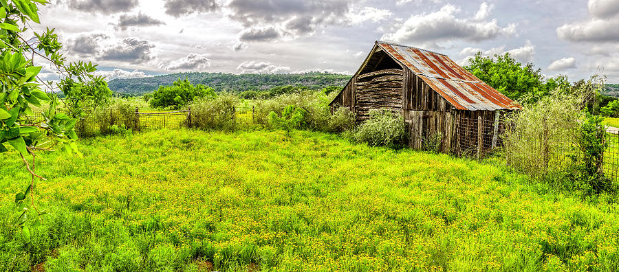 Barn on Click Gap Rd Panorama HDR by Greg Reed