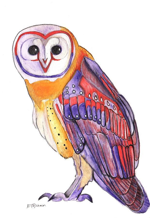 Barn Owl Painting - Barn Owl by Ed Tajchman