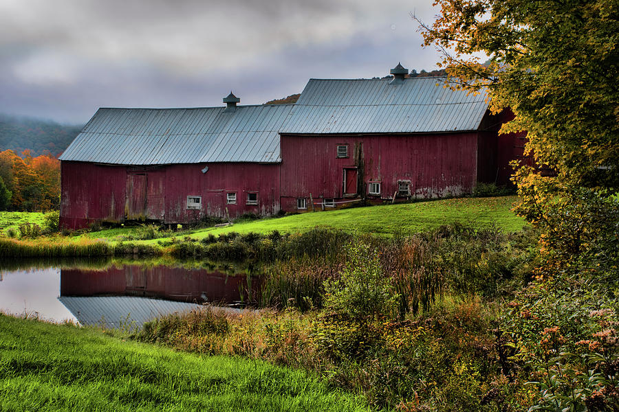 Barn Reflection at Jenne Farm by Norma Warden