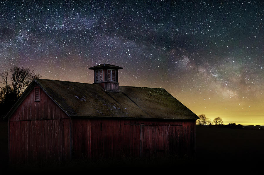 Barn under the Stars Photograph by Bill Wakeley