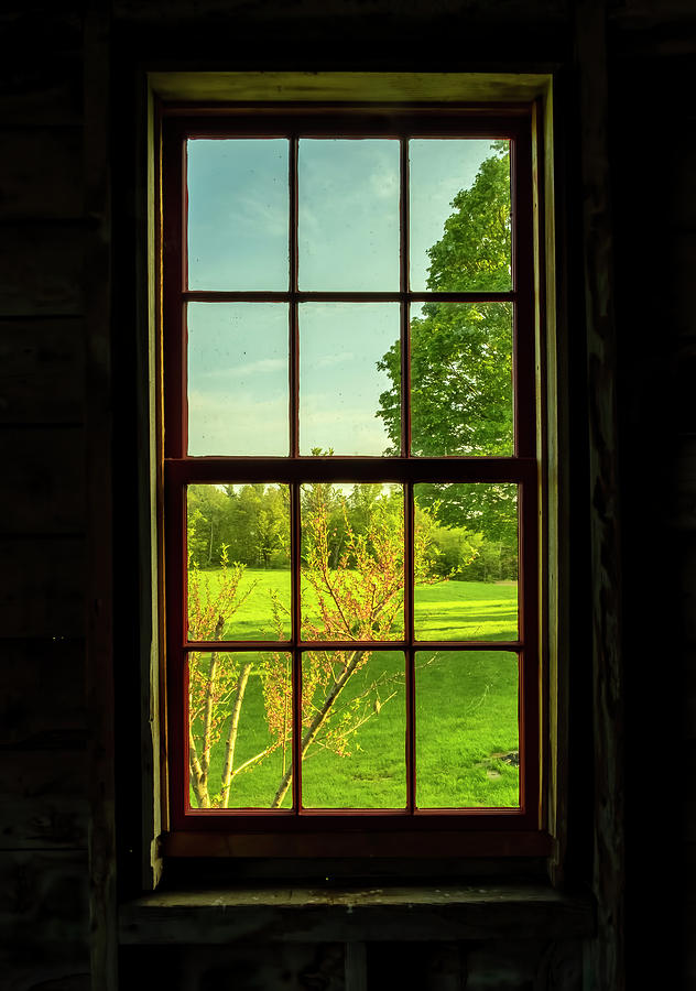 Barn Window View by Tom Singleton