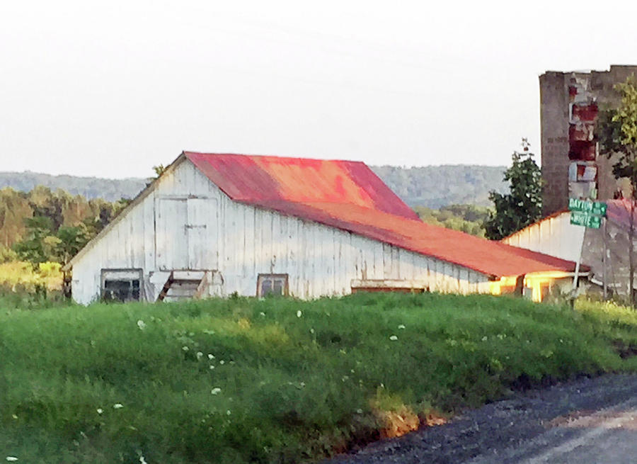 Barn with Red Roof by Christine Lathrop