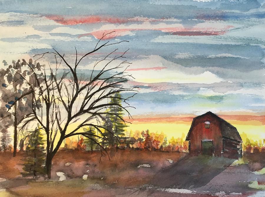 Barn Painting - Barns Of Ny by Sheryl Galinski
