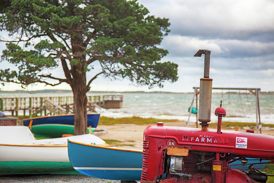 Barnstable Yacht Club Off Season Scene by Charles Harden